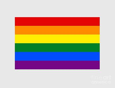 Rainbow Flag Poster by Frederick Holiday