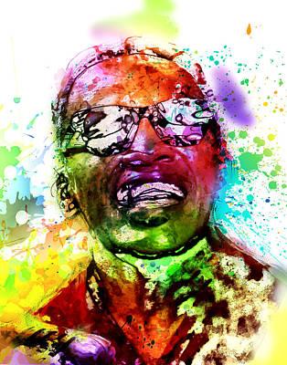 Ray Charles Poster by Elena Kosvincheva