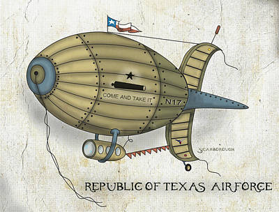 Republic Of Texas Air Force Poster by Larry Scarborough