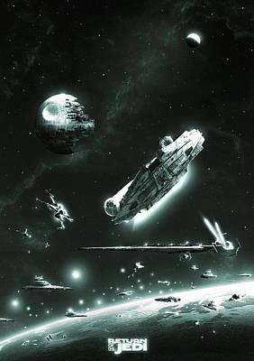 Return Of The Jedi Poster by Colin Morella