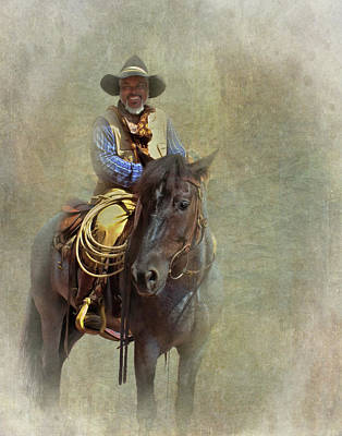 Poster featuring the photograph Ride Em Cowboy by David and Carol Kelly
