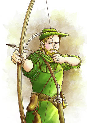 Robin Hood The Legend Poster by Reynold Jay