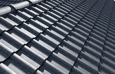 Roof Tiles Design Top Poster by Allan Swart