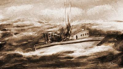 Rough Seas Poster by Barry Jones