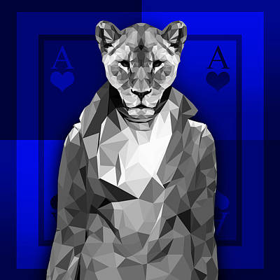 Royal Lioness Poster by Gallini Design