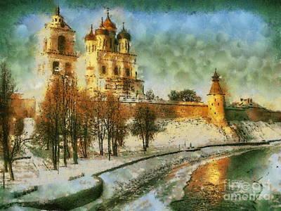 Russia Pskov Poster