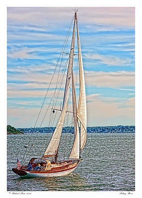 Poster featuring the photograph Sailing Maine by Richard Bean