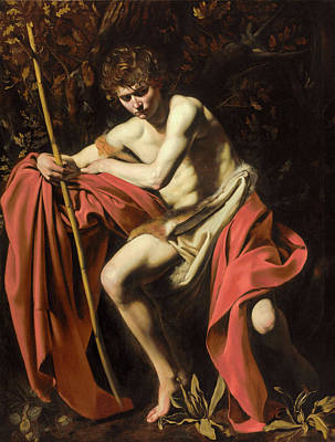 Saint John The Baptist In The Wilderness Poster by Caravaggio
