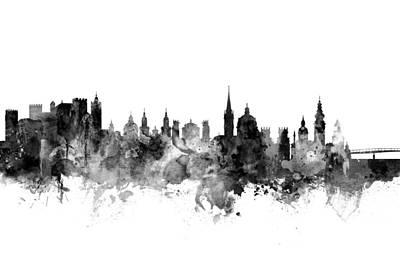 Salzburg Austria Skyline Poster by Michael Tompsett