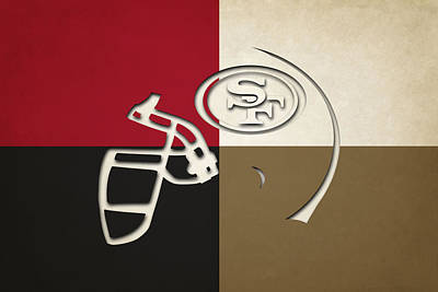 San Francisco 49ers Helmet Poster by Joe Hamilton