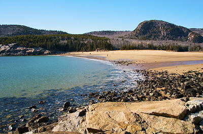 Sand Beach Acadia National Park Poster