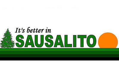 Sausalito California Poster