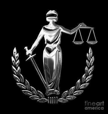 Scales Of Justice Collection Poster by Marvin Blaine