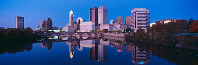 Scioto River And Columbus Ohio Skyline Poster by Panoramic Images
