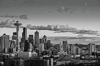 Seattle Skyline Poster by Jamie Pham