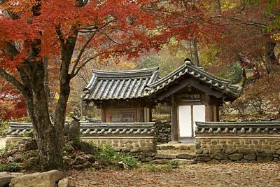 Seonamsa In Autumn Poster