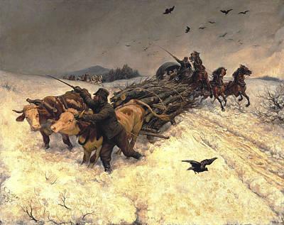 Sleigh Ride Poster by Rudolf Koller