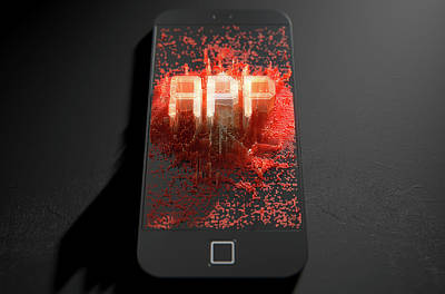 Smart Phone Emanating App Poster by Allan Swart