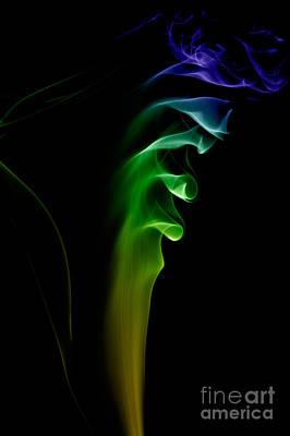 Poster featuring the photograph smoke XXVI by Joerg Lingnau