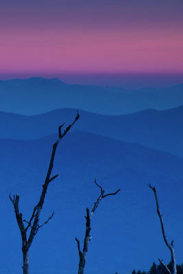Smokies Sunset Poster by Andrew Soundarajan