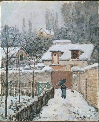 Snow At Louveciennes Poster by Celestial Images