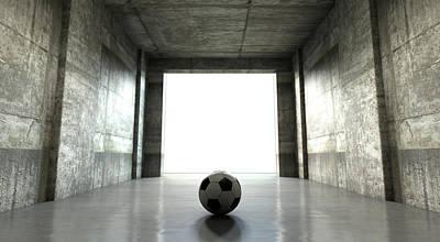 Soccer Ball Sports Stadium Tunnel Poster by Allan Swart
