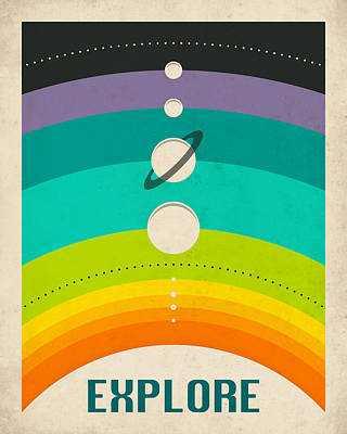 Solar System Poster by Jazzberry Blue
