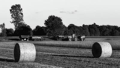 Soybean Harvest - Ohio Poster