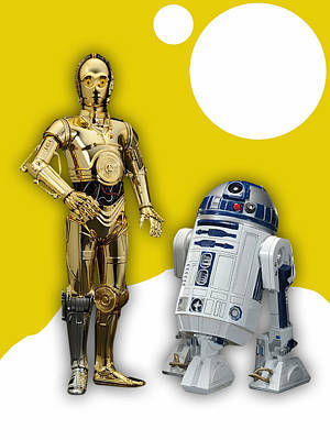 Star Wars C-3po And R2-d2 Poster