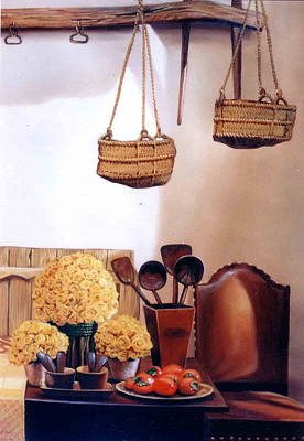 Poster featuring the painting Still Life by Chonkhet Phanwichien