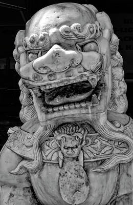 Stone Lion Chinatown Nyc Poster by Robert Ullmann