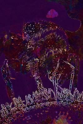 Poster featuring the digital art Sun Flower Hummel Insect Summer  by PixBreak Art