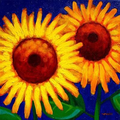 Sunflower Duet  Poster by John  Nolan