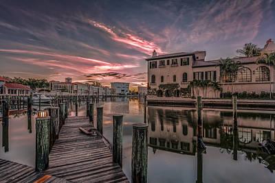 Sunrise At Naples, Florida Poster by Peter Lakomy