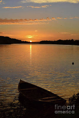 Sunset On The River Suir Poster