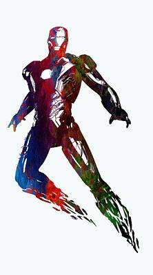 Superhero.iron Man. Poster by Elena Kosvincheva