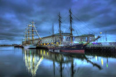 Tall Ships On Boston Harbor Poster