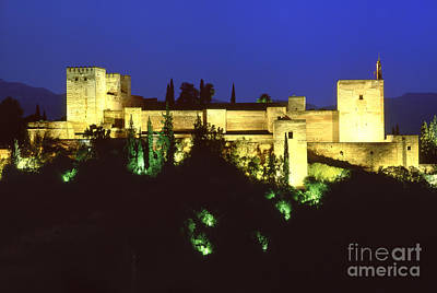 The Alcazaba The Alhambra Poster by Guido Montanes Castillo