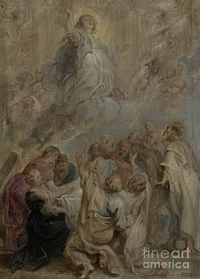 The Assumption Of The Virgin Poster by Peter Paul Rubens