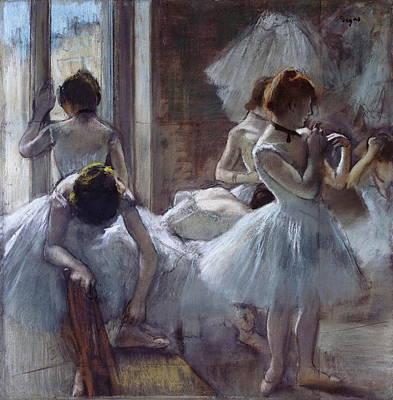 The Ballet Class Poster by Edgar Degas