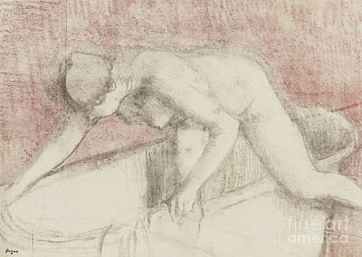 The Bath Poster by Edgar Degas
