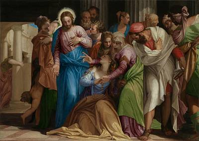 The Conversion Of Mary Magdalene Poster by Paolo Veronese