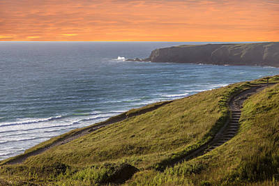The Cornish Coast Poster by Martin Newman