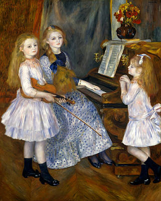 The Daughters Of Catulle Mendes Poster by Pierre-Auguste Renoir