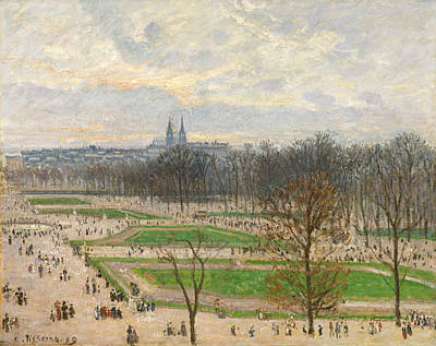 The Garden Of The Tuileries On A Winter Afternoon Poster by Camille Pissarro