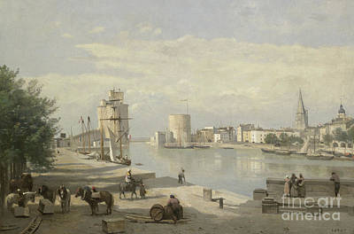 The Harbor Of La Rochelle Poster by Jean Baptiste Camille Corot