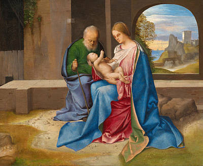 The Holy Family Poster by Giorgione