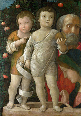 The Holy Family With Saint John Poster by Andrea Mantegna