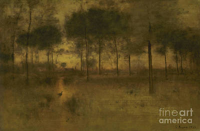 The Home Of The Heron Poster by George Inness