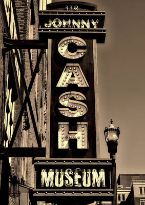 The Johnny Cash Museum - Nashville Poster by Paul Brennan